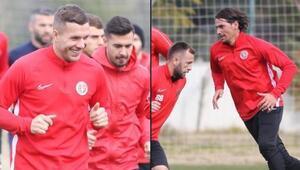 Podolski ve Ersan, Antalyaspor antrenmanında