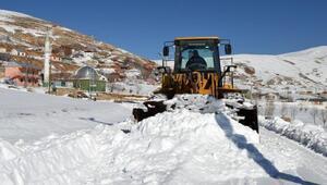 Korkuteli Söbücede karla mücadele
