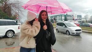 Edirnede yağmur etkili oldu