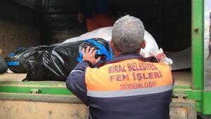 Kiraz Belediyesinin yardım TIRı Elazığa gönderildi
