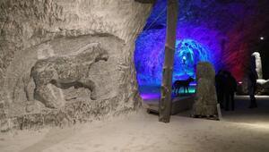 Milyonlarca yıl önce yaşayan hayvanların kabartması tuz mağarasında