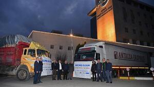 Antalya iş dünyasından, Elazığa 2 TIR yardım malzemesi