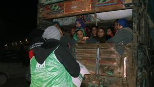 İHHdan göç yolundaki ailelere acil yardım paketi
