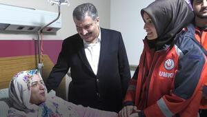 Sağlık Bakanı Koca, yaralıları ziyaret etti