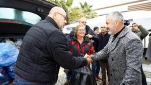Manavgatta yerleşik Almanlardan depremzedelere yardım