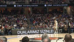 NBA maçında Elazığ ve Malatya mesajı