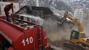 Gümüşhanede metruk binaların yıkımı tamamladı