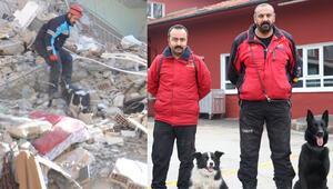 Sokakta bulunup eğitilen Ex ve Dora depremde hayat kurtardı