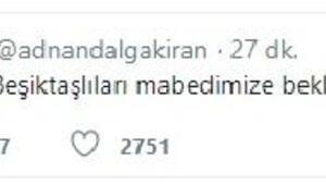 Adnan Dalgakırandan Beşiktaş taraftarlarına davet