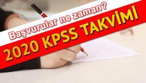 2020 KPSS başvuruları ne zaman yapılacak Lisans, ön lisans ve ortaöğretim KPSS sınavı ne zaman