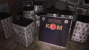 Muğlada otelde 7 bin şişe sahte içki ele geçirildi