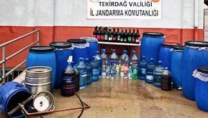 Tekirdağda 890 litre sahte içki ele geçirildi
