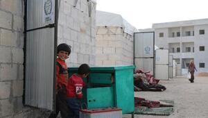 Suriye'de ilk briket evlere aileler yerleştirildi