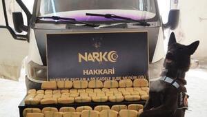 Narkotik köpegi Pars ile yapılan aramada 56 kilo eroin ele geçirildi