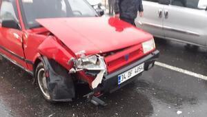 Mardinde yağış zincirleme kaza getirdi