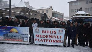 Bitlis'te STK'lar Trump'ın 'Yüzyılın Anlaşması' açıklamasını protesto etti