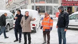 Hacılarda karla mücadele çalışmaları sürüyor
