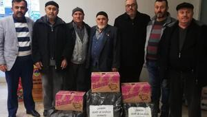 Çankırı Şehit ve Gaziler Derneğinden depremzedelere gıda yardımı