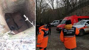 Sarıyerde ormandaki kuyuya düşen kişi 48 saat sonra kurtarıldı