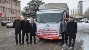 Elazığ'a 1 ton süt ve 5 ton elma gönderildi