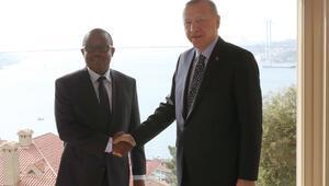 Cumhurbaşkanı Erdoğan, Cissoko Bissaau ile görüştü