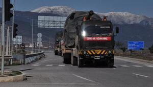 Suriye sınırına obüs ve tanksevkiyatı