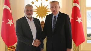 Son dakika haberler... Cumhurbaşkanı Erdoğan, Hamas lideri Heniyye ile görüştü