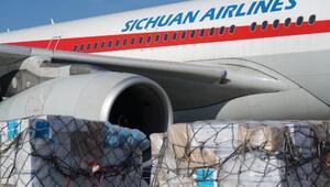 İGADAN Çindeki havalimanlarına 3 tonluk tıbbi yardım malzemesi
