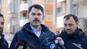 Bakan Kurum: Elazığda 71 binamızın yıkımını gerçekleştirdik