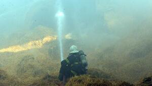 Kahramanmaraşta çiftliğin saman deposunda yangın