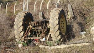 Korkunç ölüm Traktörün altınca can verdi