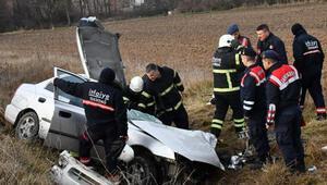 Tekirdağda iki araç çarpıştı: 1 ölü, 4 yaralı