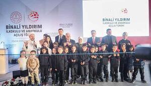Binali Yıldırım İlkokulu ve Anaokulu açıldı... 'En duygusal projem'