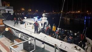 Çeşme ve Seferihisar açıklarında 116 kaçak göçmen yakalandı