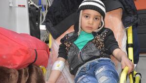 Ömer, 10 saatlik zorlu mücadelenin ardından hastaneye ulaştırıldı