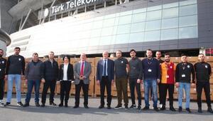Galatasarayın topladığı yardım malzemeleri, depremzedeler için yola çıktı