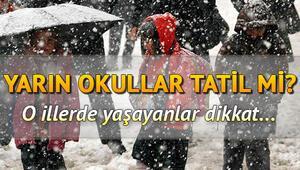 Bugün okullar nerelerde tatil 5 Şubat Çarşamba günü Erzincan, Van, Bingölde okullar tatil mi