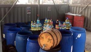 Tekirdağda 3 ton sahte içki ele geçirildi