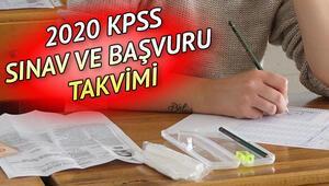 KPSS başvurusu ne zaman yapılacak 2020 KPSS sınav takvimi