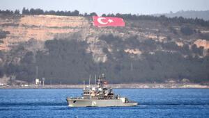 Romanya ve Almanya savaş gemileri, Çanakkale Boğazından geçti