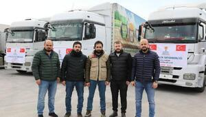 AK Parti Arnavutköy İlçe Başkanlığı'ndan İdlib'e yardım