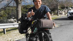 Güney Koreli Kei, bisikletle Asya ve Avrupa turuna çıktı