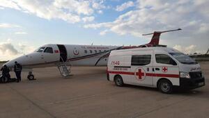 Türk işçi, ambulans uçakla Türkiye'ye getirildi