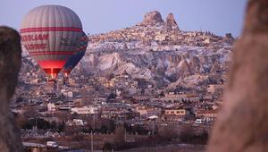 Kapadokyayı 2020nin ilk ayında 159 bin turist ziyaret etti
