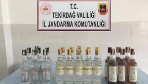 Tekirdağda 17 litre kaçak içki ele geçirildi