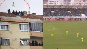 Son Dakika   Kırklarelispor - Fenerbahçe maçında tehlikeli görüntü Soyunma odasına doğru...