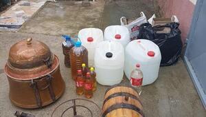 Sahte içki üretilen eve baskın