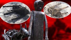 Ankara'da bir garip olay:'Put' dediler 30 heykeli yıktılar