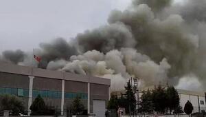 Manisada oyuncak fabrikasında yangın