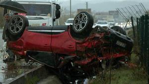 Fethiyede korkunç kaza: 1 ölü, 1 yaralı